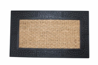 Texture Border Welcome Mat