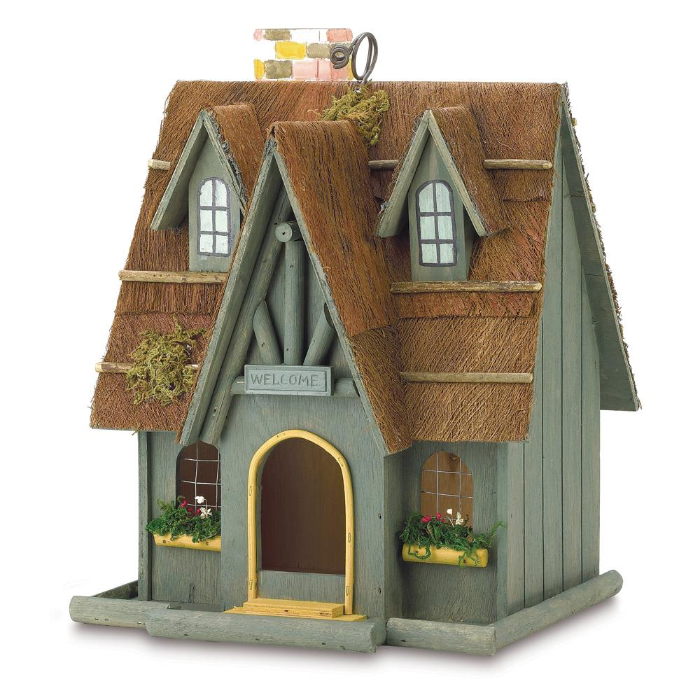 Thatched cottage birdhouse wholesale at koehler home decor for Koehler home decor