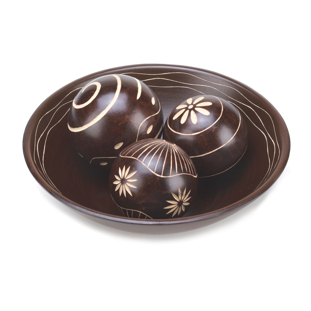umber decorative balls set wholesale at koehler home decor