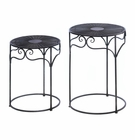 Umber Wicker Round Nesting Tables