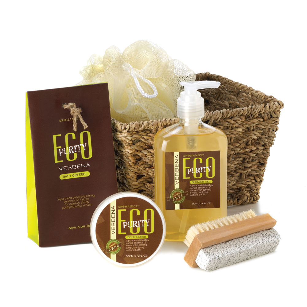 Eco Purity Verbena Bath Spa Gift Set Wholesale at Koehler Home Decor