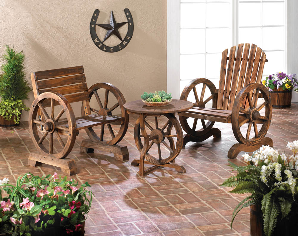 Wagon wheel table wholesale at koehler home decor for Koehler home decor
