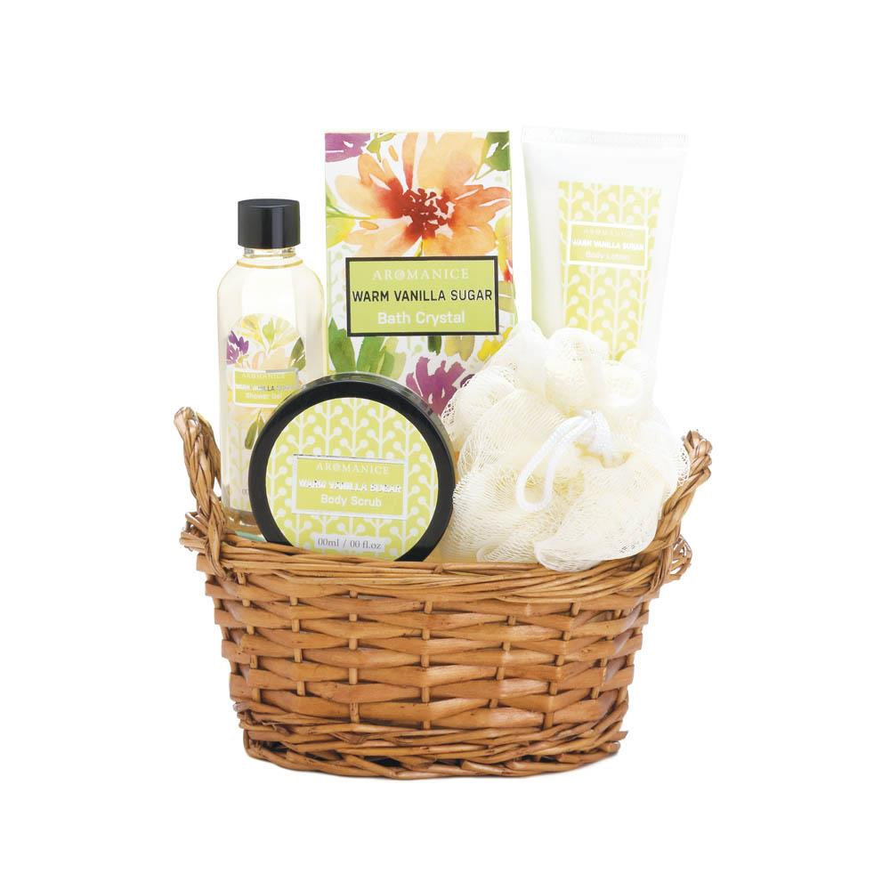 Warm vanilla sugar spa set wholesale at koehler home decor - Sullivans wholesale home decor set ...