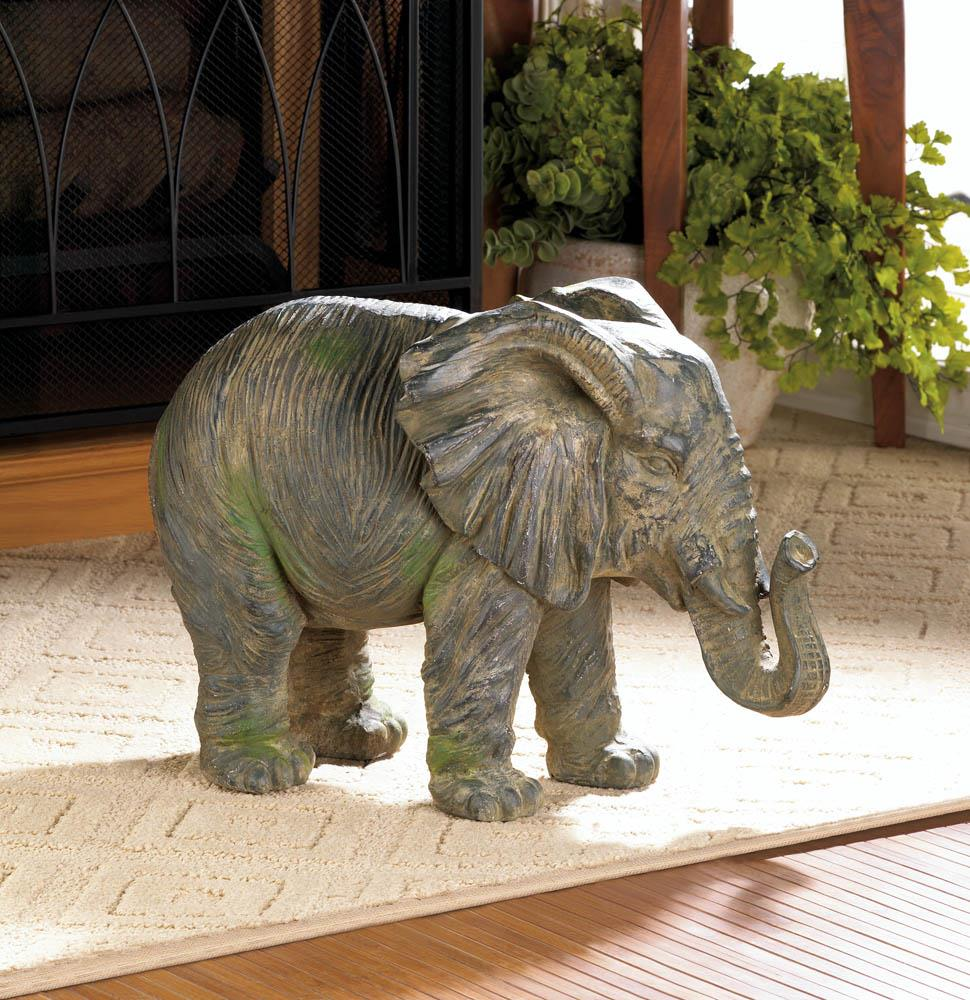 Small Elephant Decor: Weathered Elephant Statue Wholesale At Koehler Home Decor