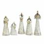 Weathered White Nativity Set