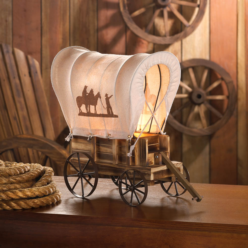 Western wagon table lamp wholesale at koehler home decor for Koehler home decor