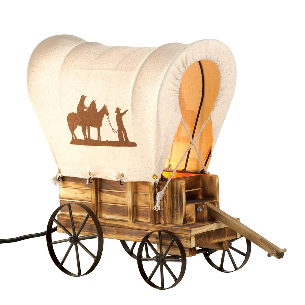 Discount Western Home Decor: Western Wagon Table Lamp Wholesale At Koehler Home Decor
