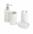 White Bath Accessory Set