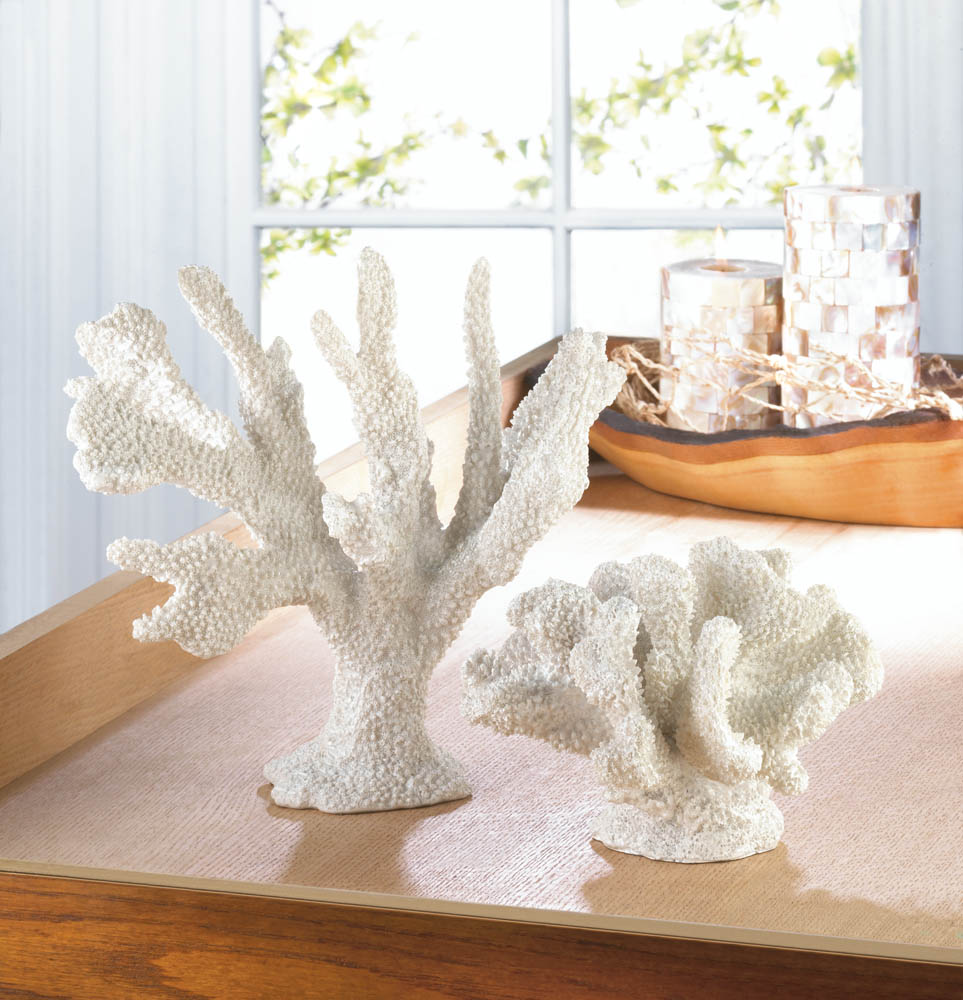 White coral decor wholesale at koehler home decor for Wholesale home decor