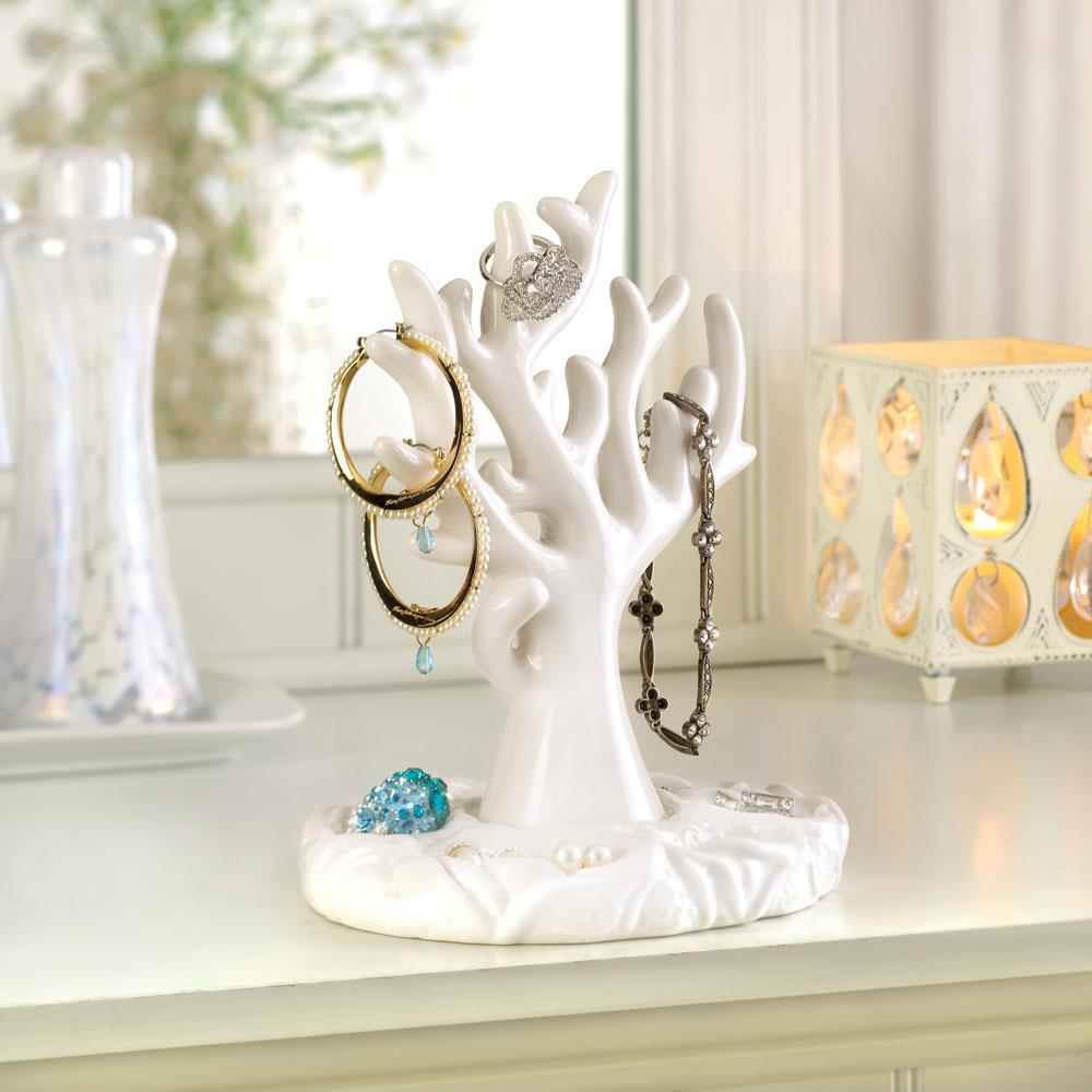 White Coral Jewelry Holder Wholesale At Koehler Home Decor