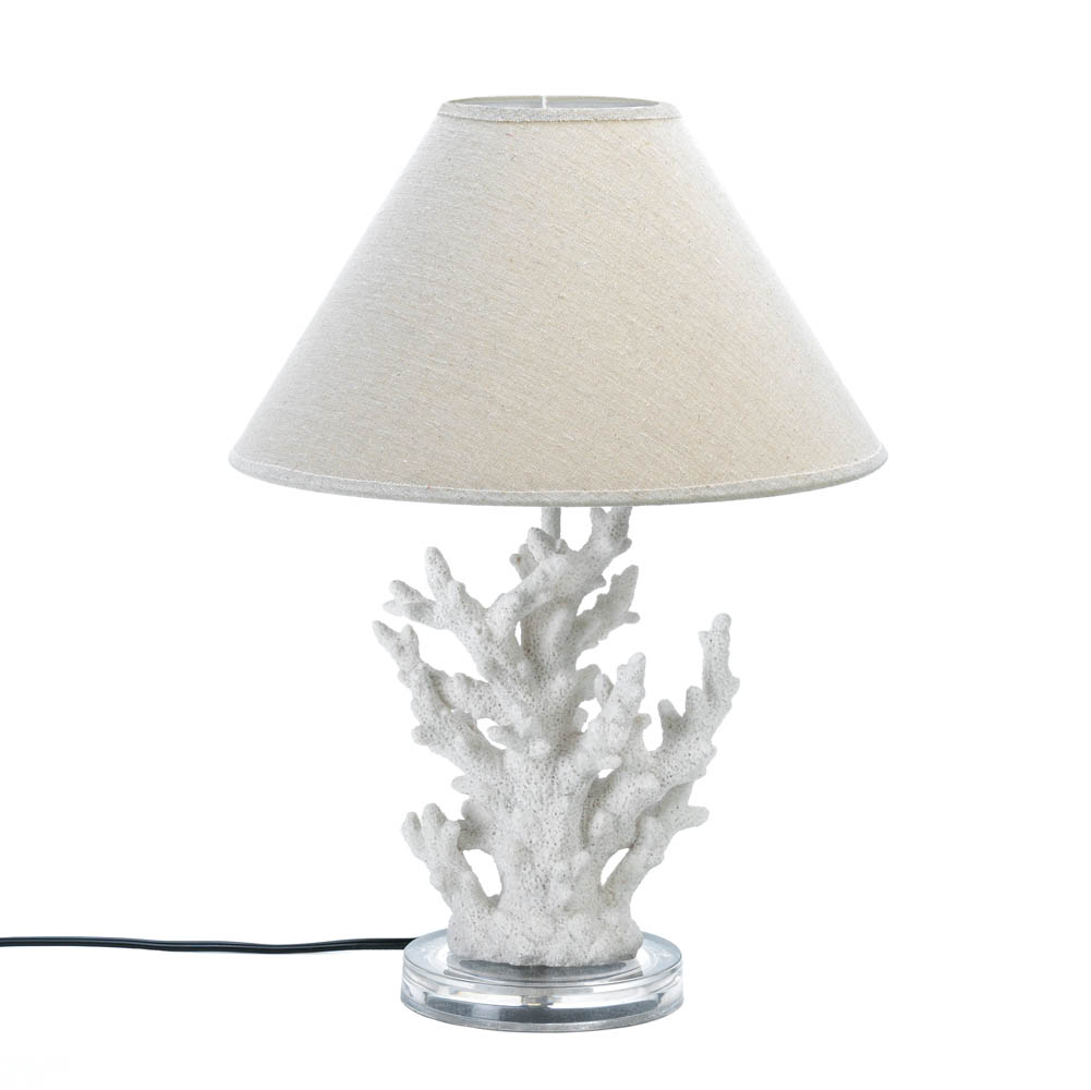 White Coral Table Lamp Wholesale At Koehler Home Decor
