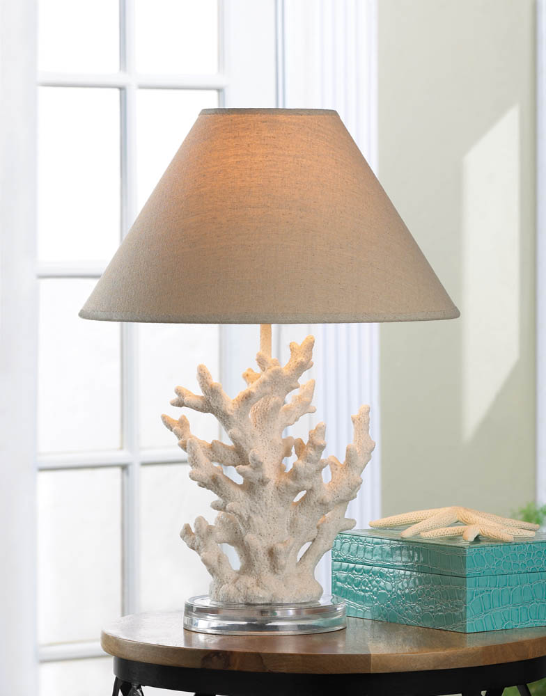 White coral table lamp wholesale at koehler home decor for Wholesale home decor