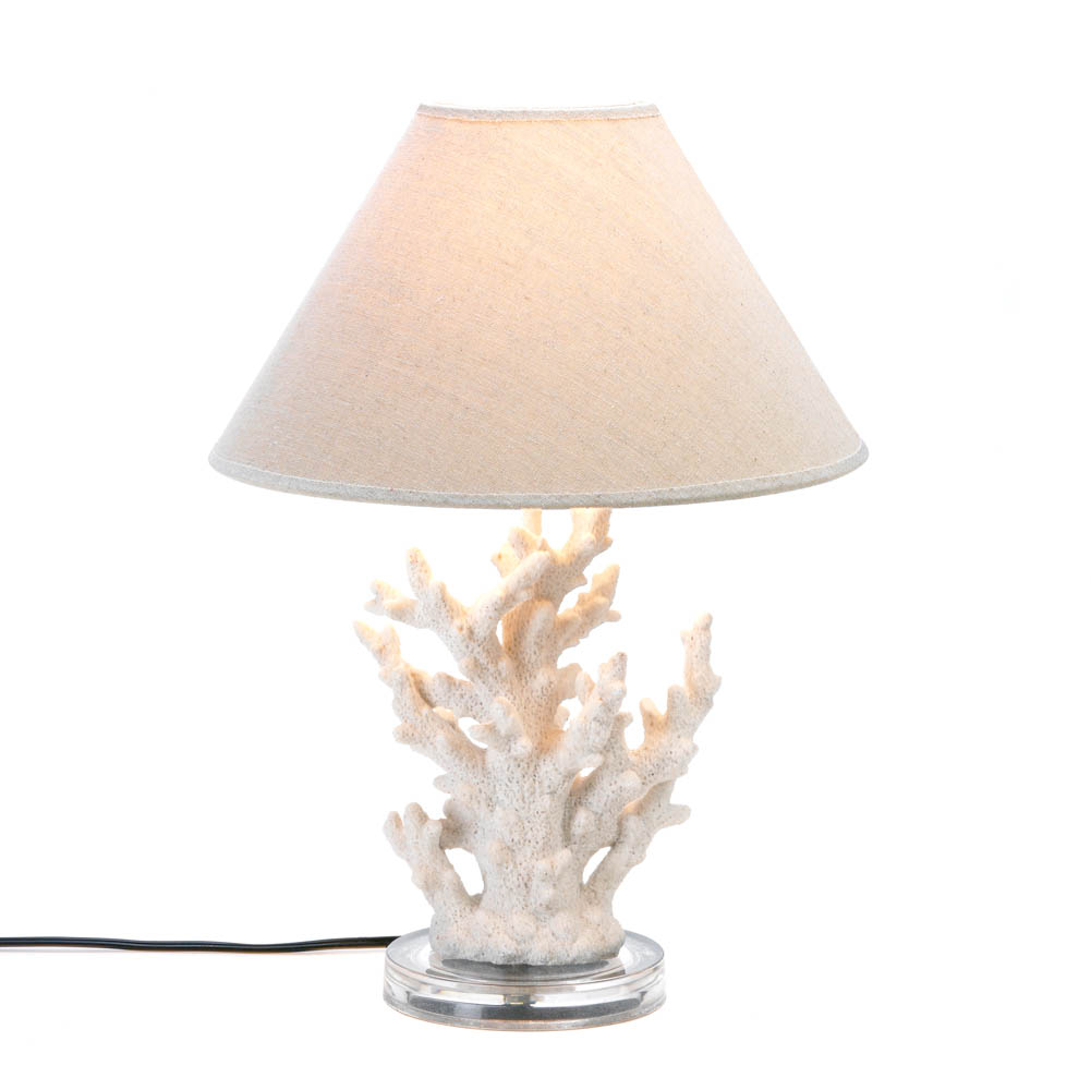 White coral table lamp wholesale at koehler home decor - Chandelier desk lamp ...