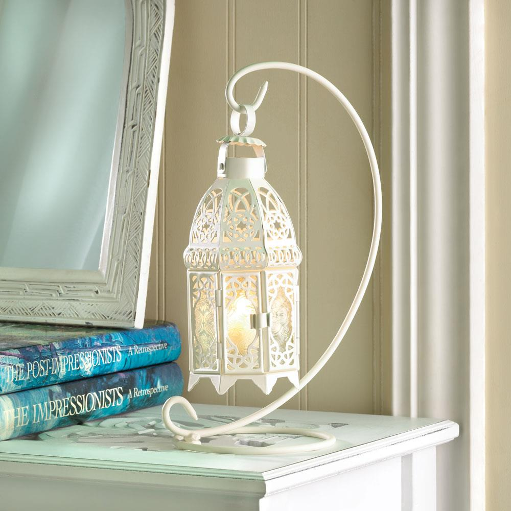White fancy lantern wholesale at koehler home decor for Koehler home decor