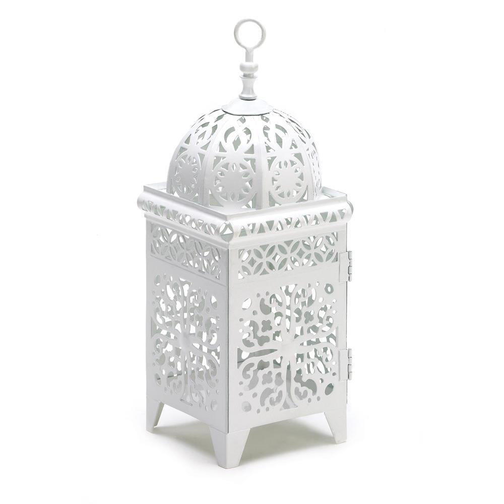 White filigree candle lantern wholesale at koehler home decor for Koehler home decor