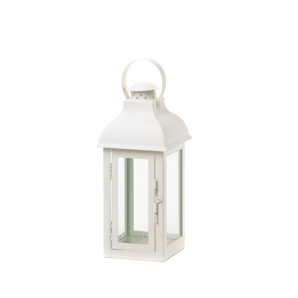 Medium white gable lantern wholesale at koehler home decor for Cheap decorative items