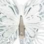 White Gem Butterfly Christmas Ornament Set