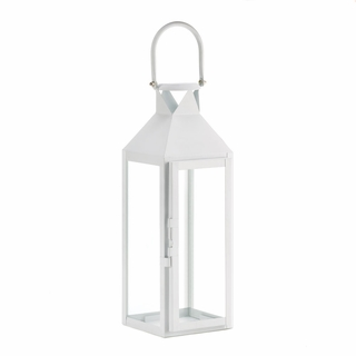 White Manhattan Candle Lantern