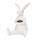 White Rabbit Vase