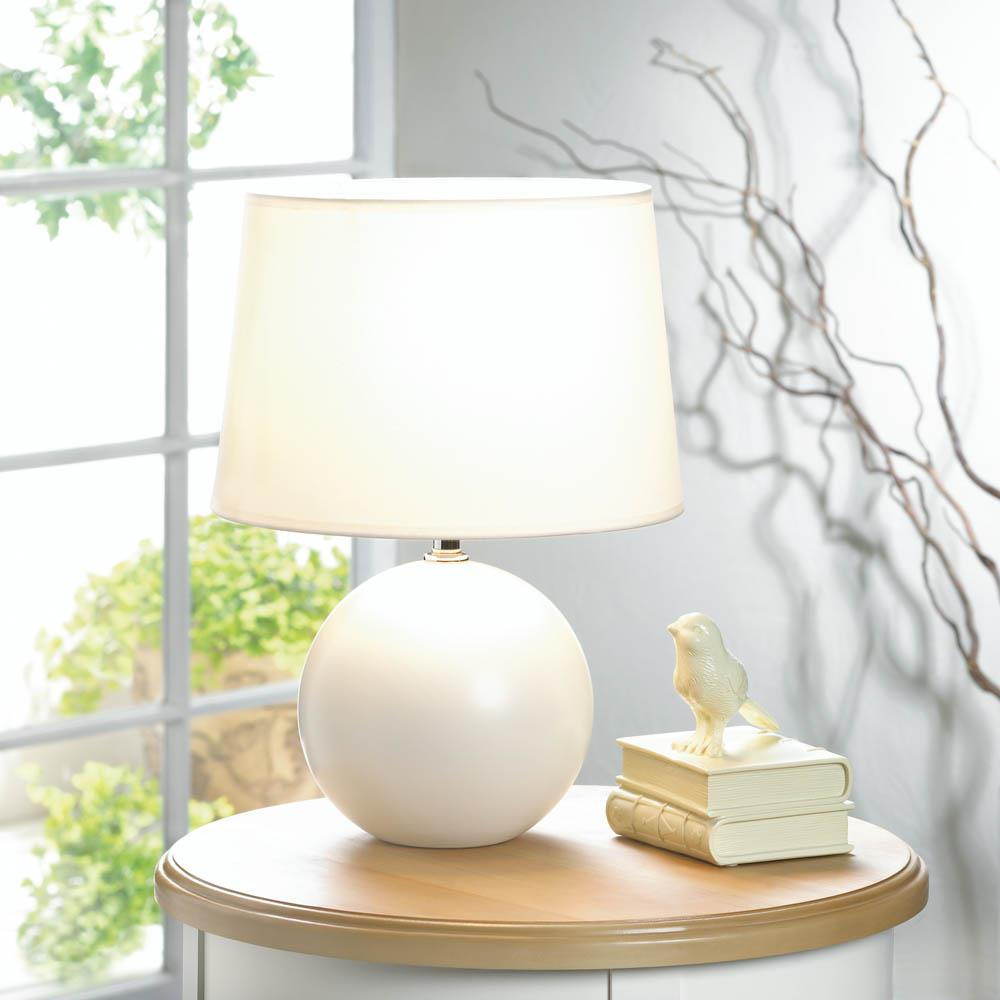 White round base table lamp wholesale at koehler home decor for Koehler home decor
