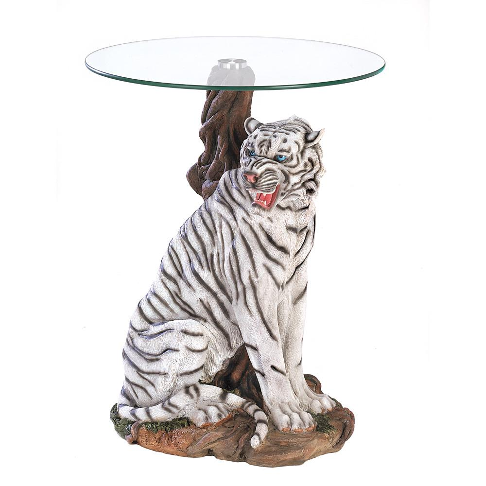 White Tiger Accent Table Wholesale At Koehler Home Decor