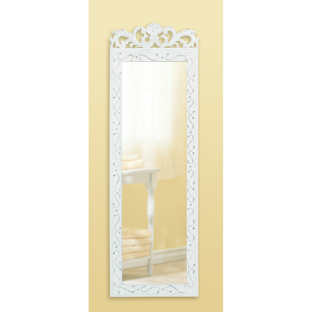 White Wood Wall Mirror Wholesale at Koehler Home Decor