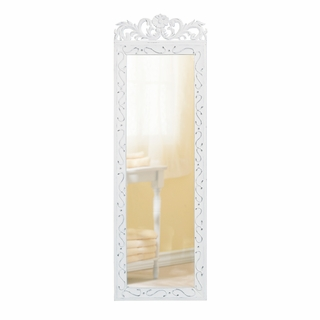 White Wood  Wall Mirror