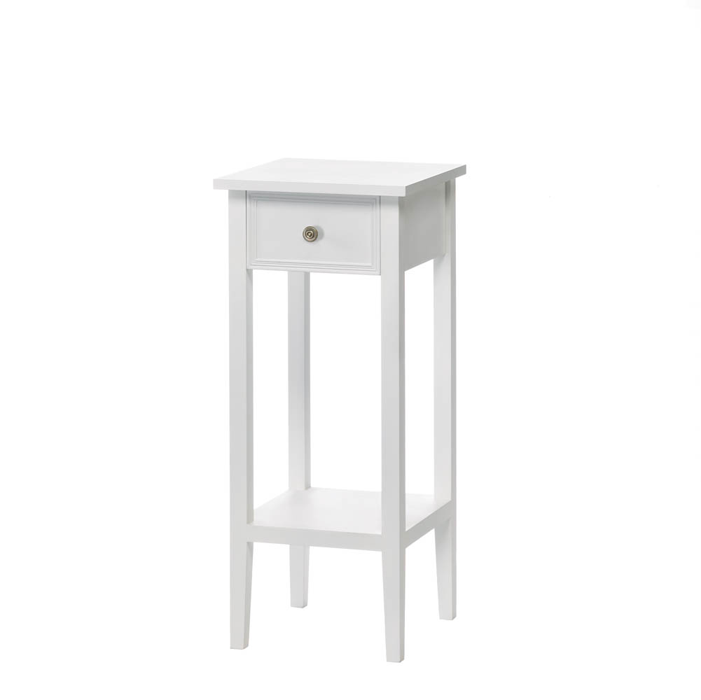 Marvelous Willow White Side Table ...