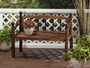 Garden Grove Wood Bench Plant Stand