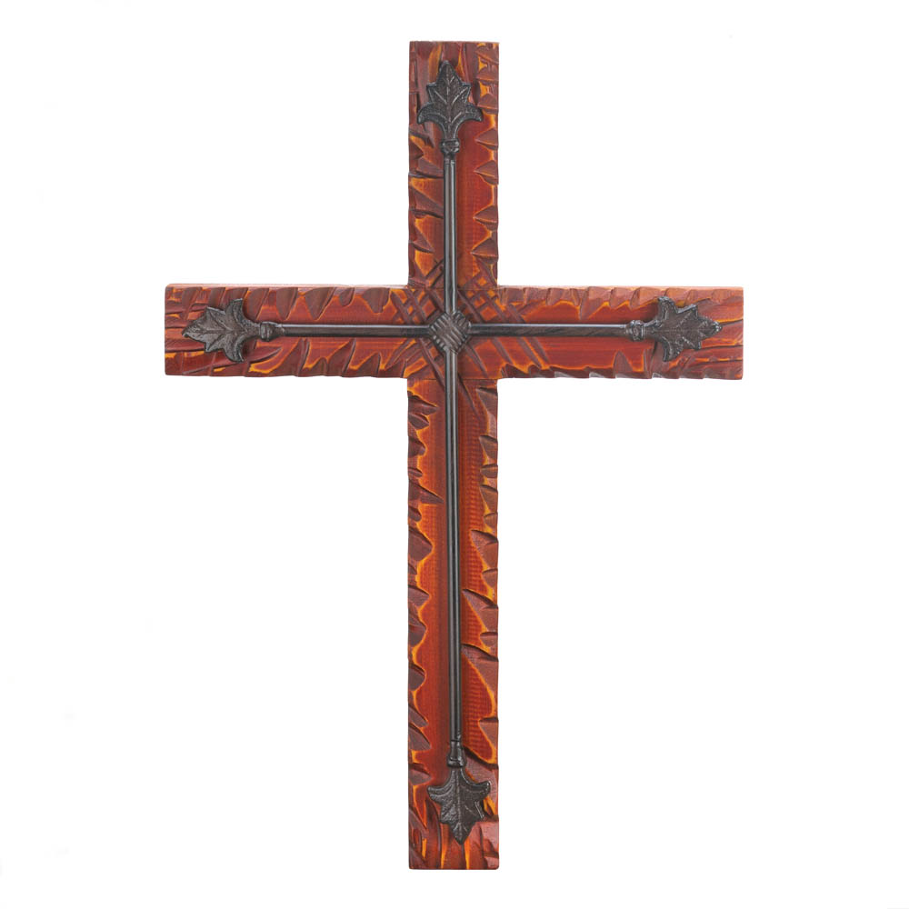 Wall Crosses Home Decor : Wood iron wall cross wholesale at koehler home decor
