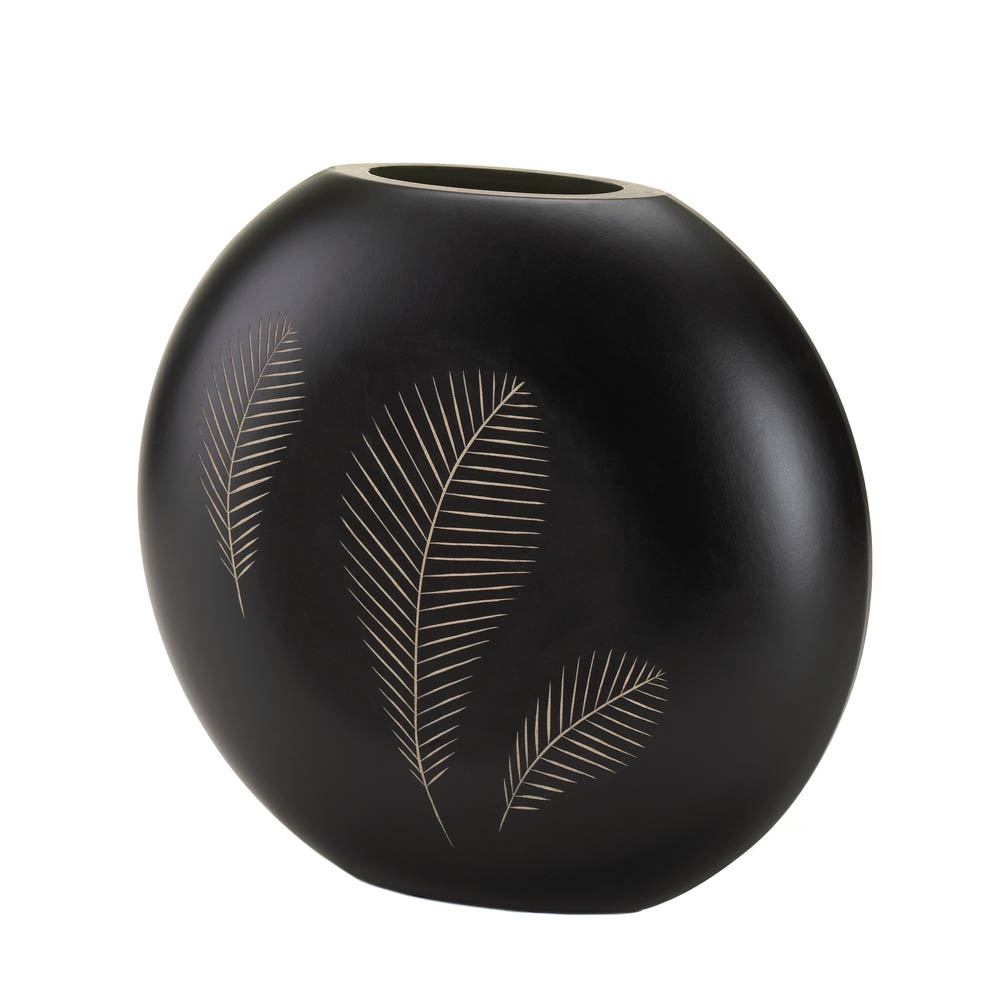 Wooden Feather Imprint Vase Wholesale at Koehler Home Decor