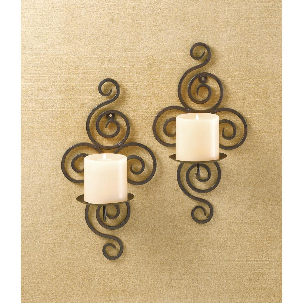 Wrought Iron Candle Wall Sconces Wrought Iron Candle Wall Sconces
