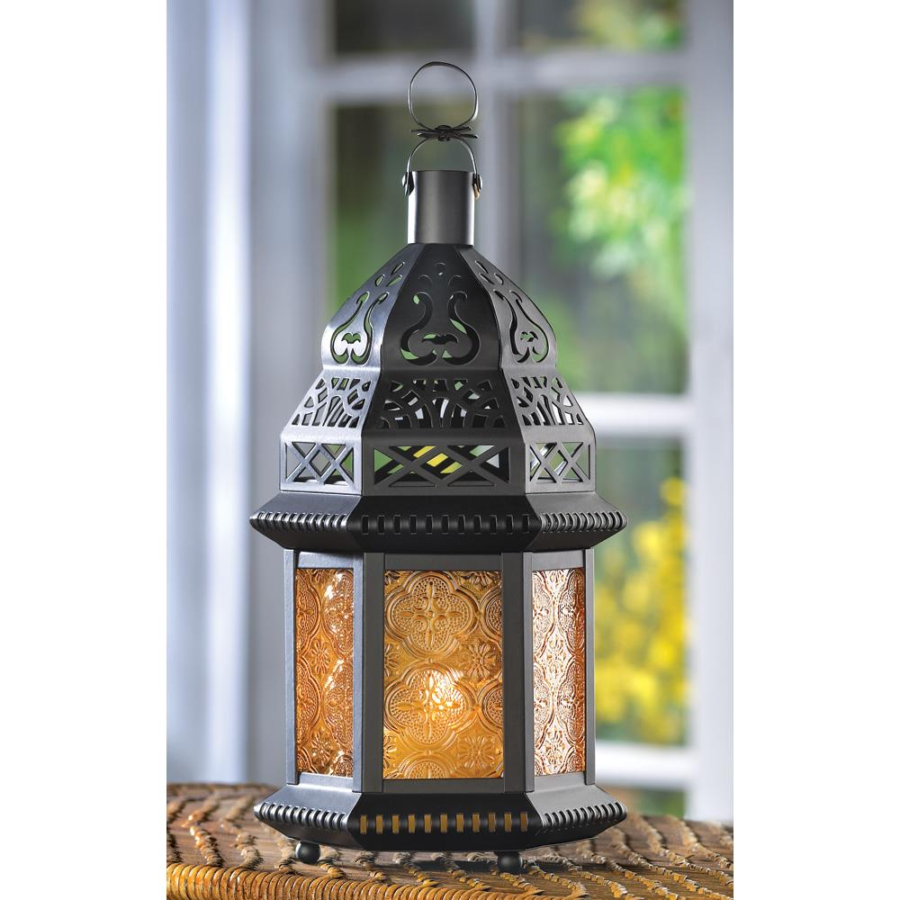 Yellow Glass Moroccan Lantern Wholesale At Koehler Home Decor