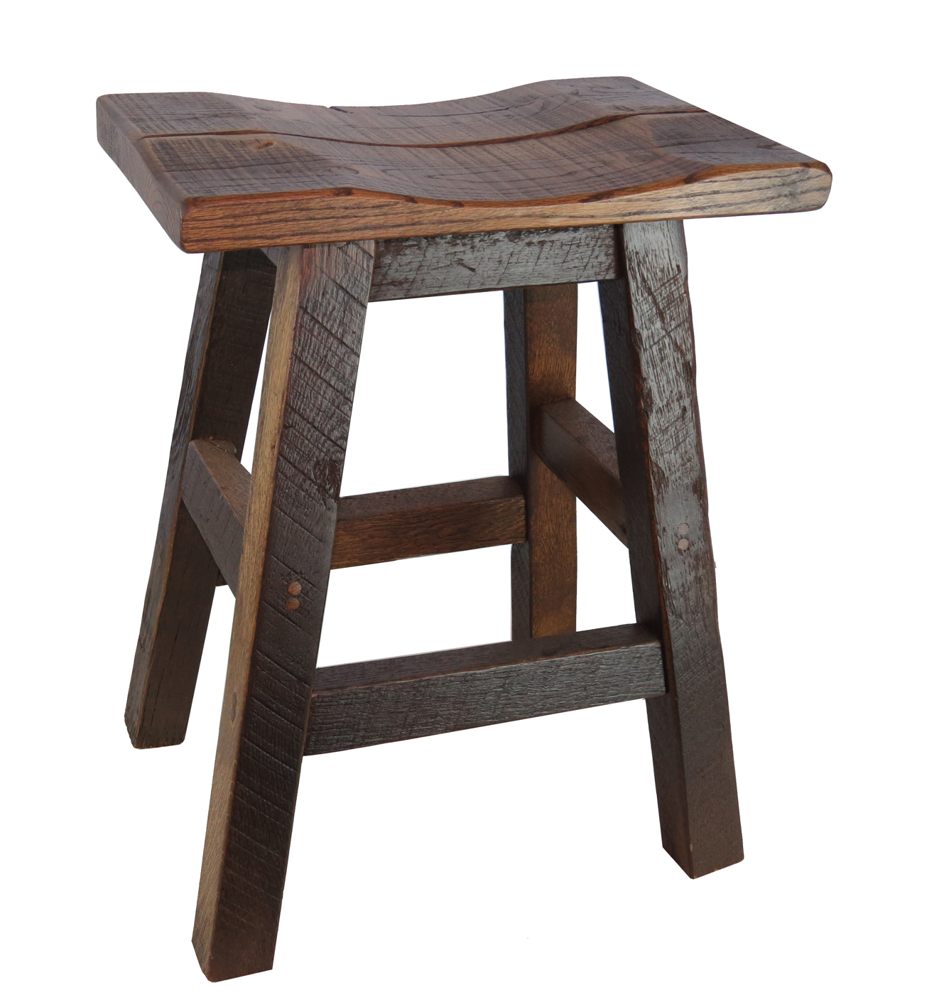 Barnwood bar stools 24 inch backless for 24 inch bar stools