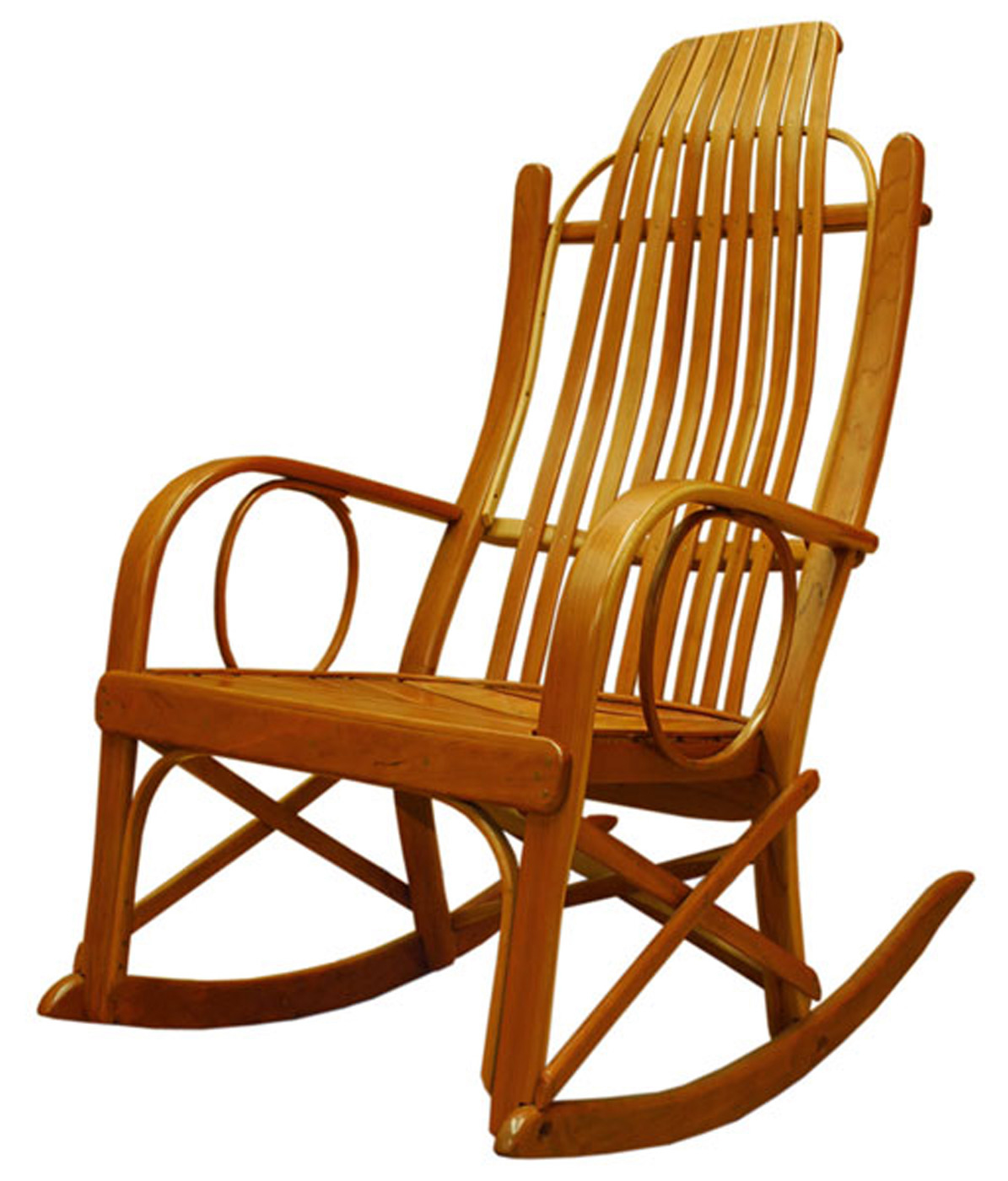 Amish solid cherry bentwood rocking chair - Rocking chair but ...