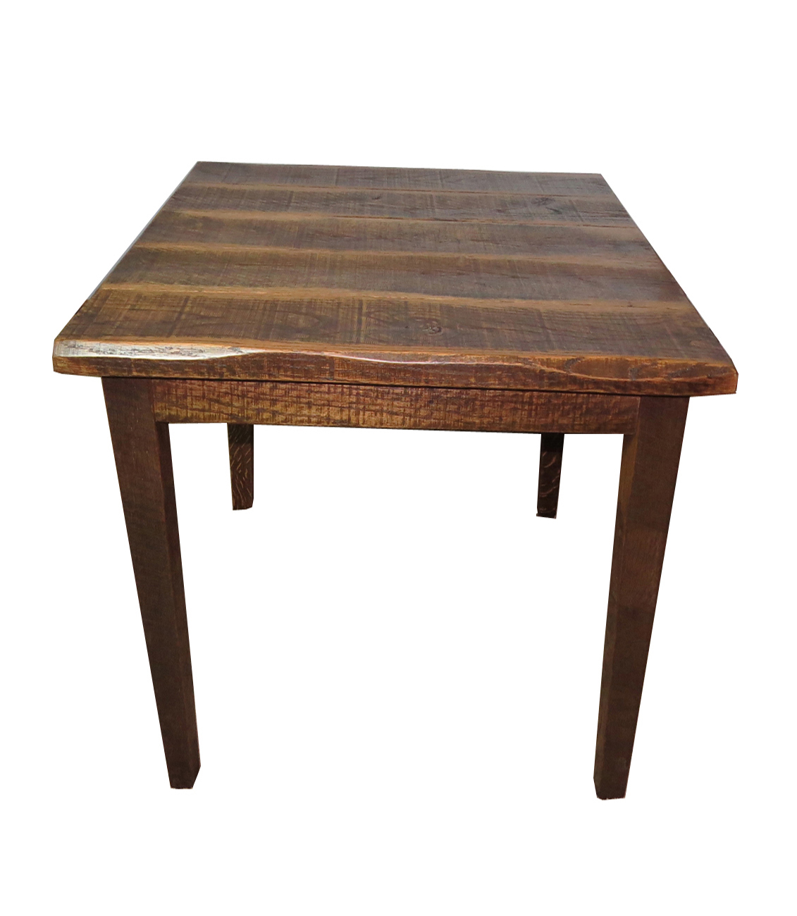 Rustic Distressed Oak 36 Pub Table
