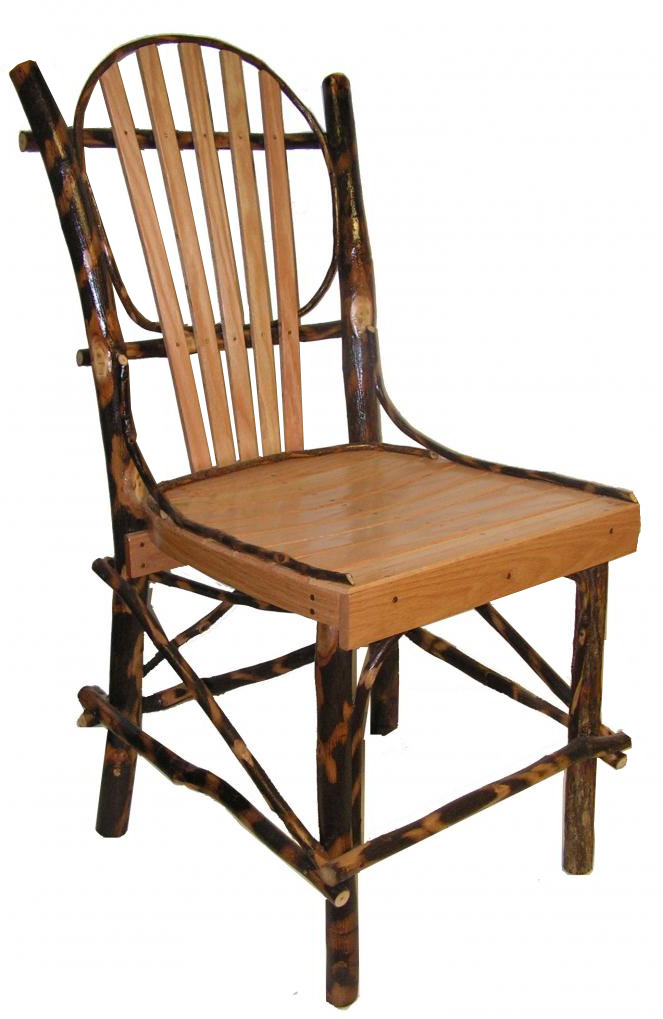 Rustic hickory and oak kitchen chair for Kitchen chairs