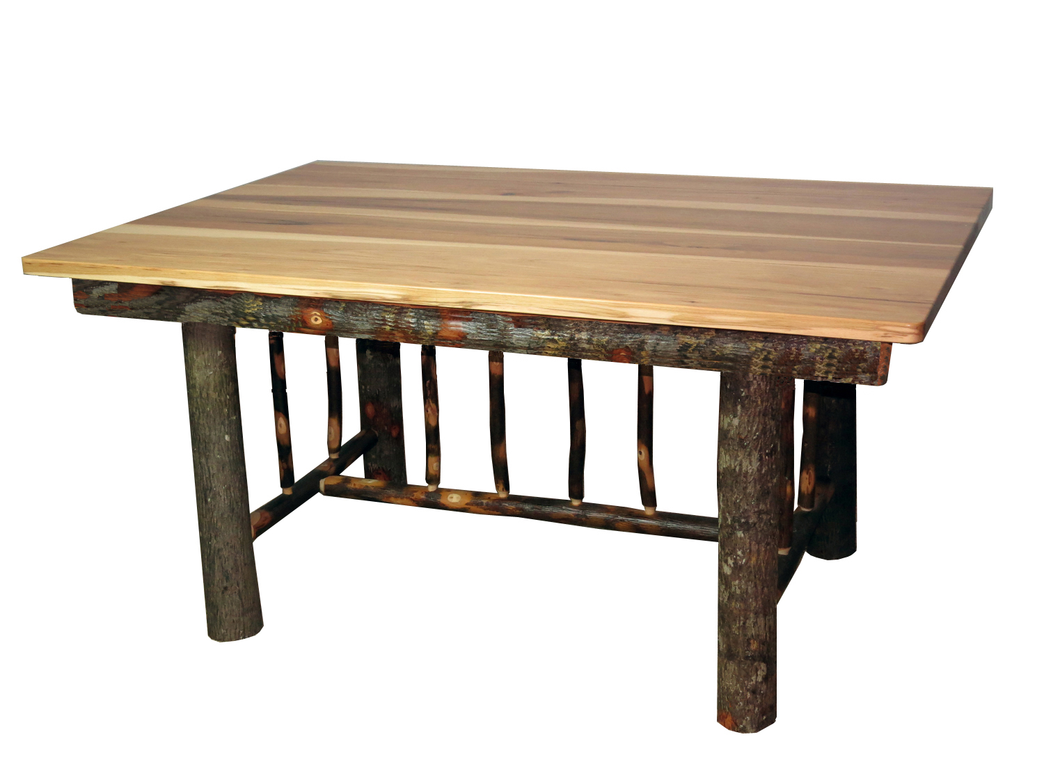 Rustic hickory mission style dining table for Mission style dining table