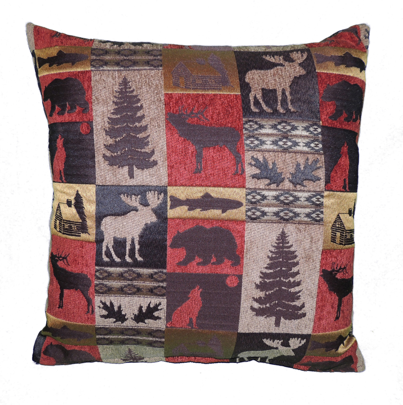 Rustic Cabin Collection Throw Pillow