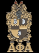 Alpha Crest Pin with Letters