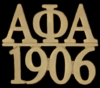 Alpha Gold Letters and Year Pin
