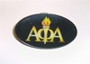 Alpha Oval Acrylic Pin