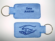 Amicae Embroidered Keychains