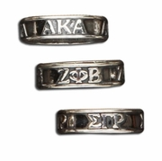 SS Band Letter Rings
