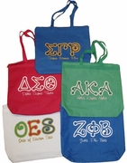 Dot Letter Tote Bags