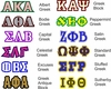 Greek Letter Choices