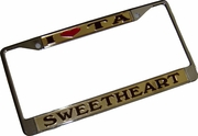 Iota Sweetheart License Frame