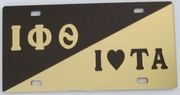 Iota Sweetheart Split Car Tag