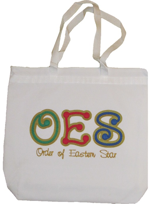 OES Dot Letter Tote Bag