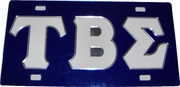 TBS 2-Color Letter License Plate
